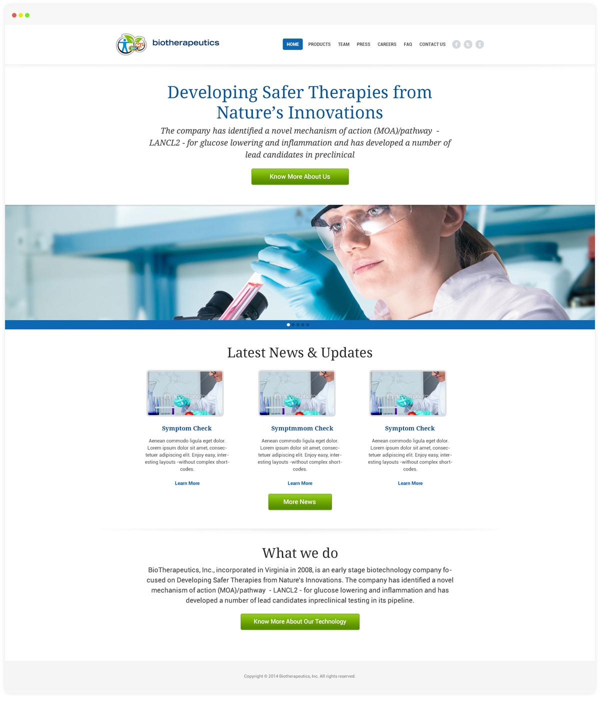 Biotherepeutics Homepage